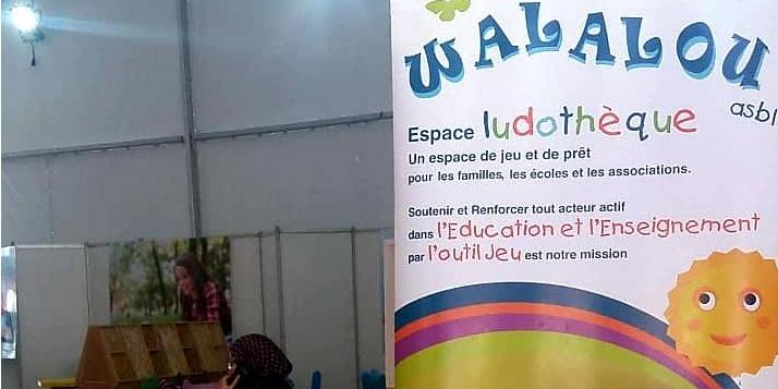 Un espace ludothèque au Salon du Livre d'Oujda