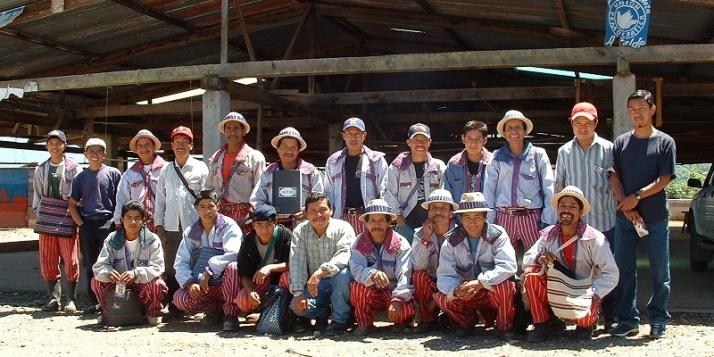 Groupe de Todos Santos - Coopérative Guayab au Guatemala (c) Miel Maya