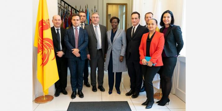 Avec Louise Mushikiwabo, Secrétaire générale de la Francophonie (c) Antoine Jamonneau - OIF