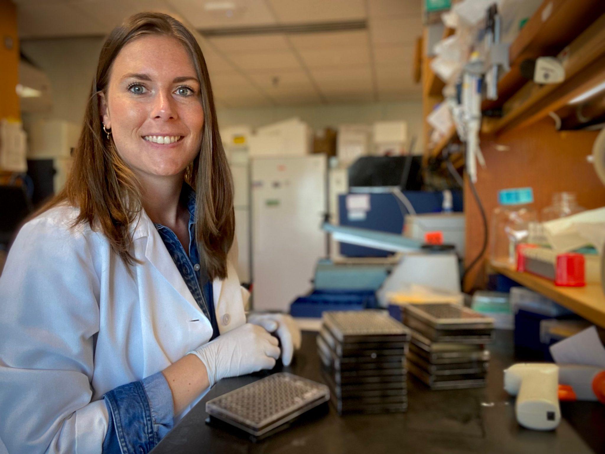 Justine Bellier, chercheuse post-doctorale au MGH, l'hôpital rattaché à la Harvard Medical School © Justine Bellier