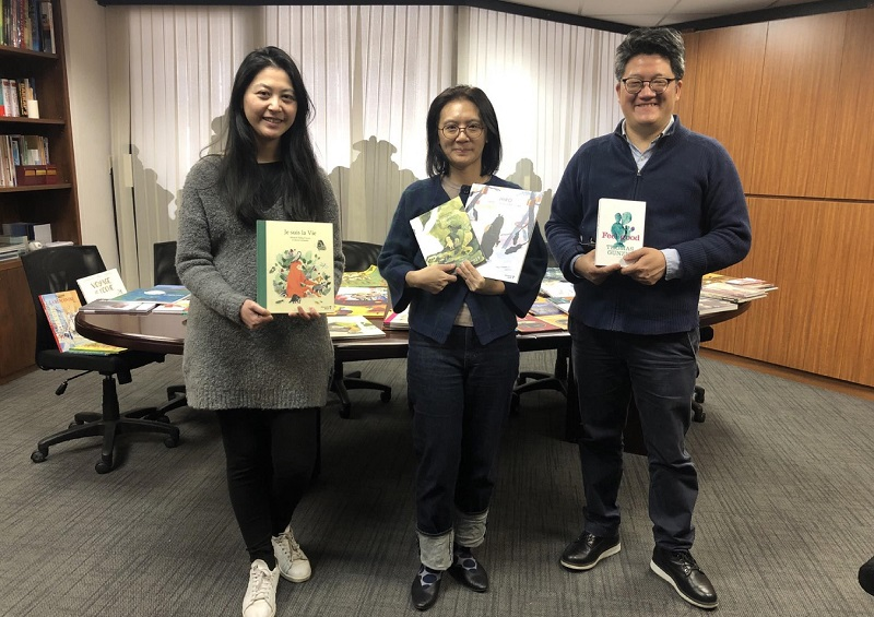 Angélique Xiaochiu LIN , Angela HSU, Philippe TZOU (c) Bureau AWEX Taïwan
