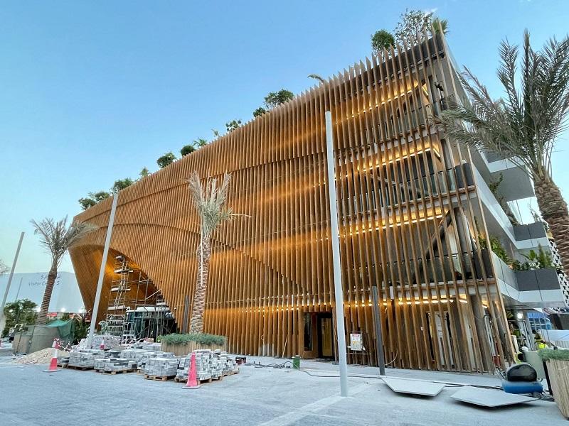L'arche verte, le pavillon belge à Expo 2020 Dubaï (c) BelExpo