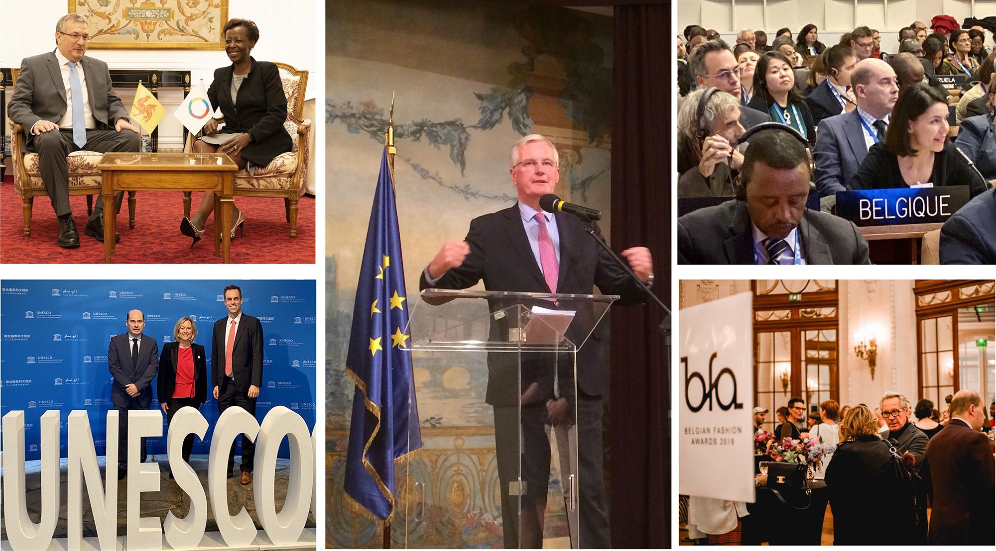 Crédits photos :  Photo du Ministre-Président de la Fédération Wallonie-Bruxelles, Pierre-Yves Jeholet : ©Antoine Jamonneau/OIF Photo des Belgian Fashion Awards : ©Noémie Boone