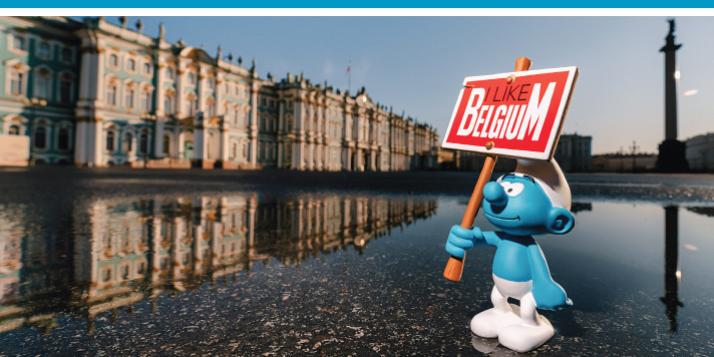 """Expo """"60ème anniversaire des Schtroumpfs"""" à Saint-Pétersbourg"""