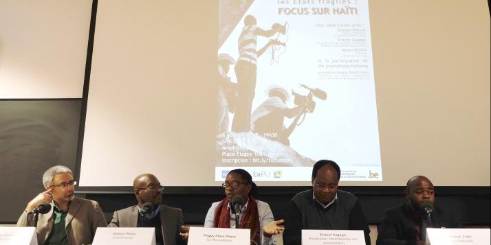 """Table-ronde """"Enjeux et difficultés du journalisme dans les Etats fragiles: Focus Haïti"""""""