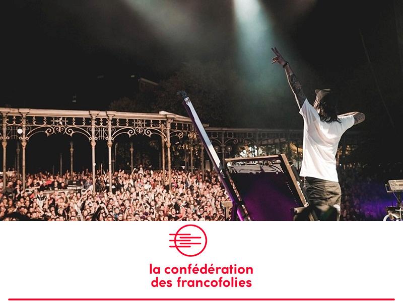 Francofolies de Spa 2019 (c) Jérome Van Belle - WBI - Logo (c) La Confédération des Francofolies