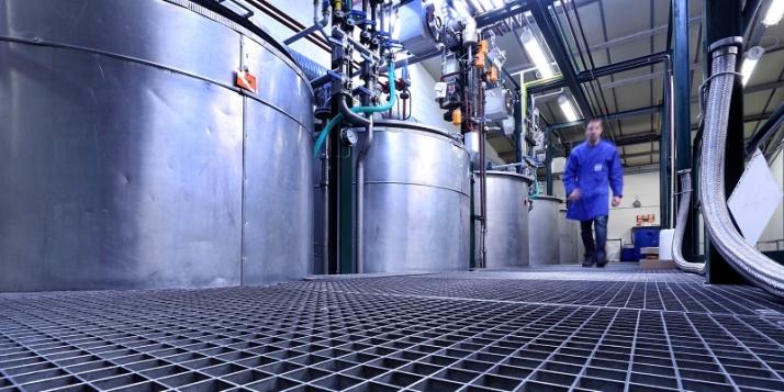 La salle de mélange pour la production des aérosols