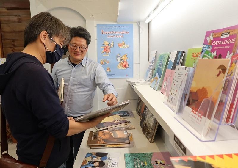 Sean CHUANG auteur BD Taïwanais, Philippe TZOU (c) Bureau AWEX Taïwan