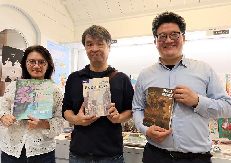 Angélique Xiaochiu LIN, Sean CHUANG, Philippe TZOU (c) Bureau AWEX Taïwan