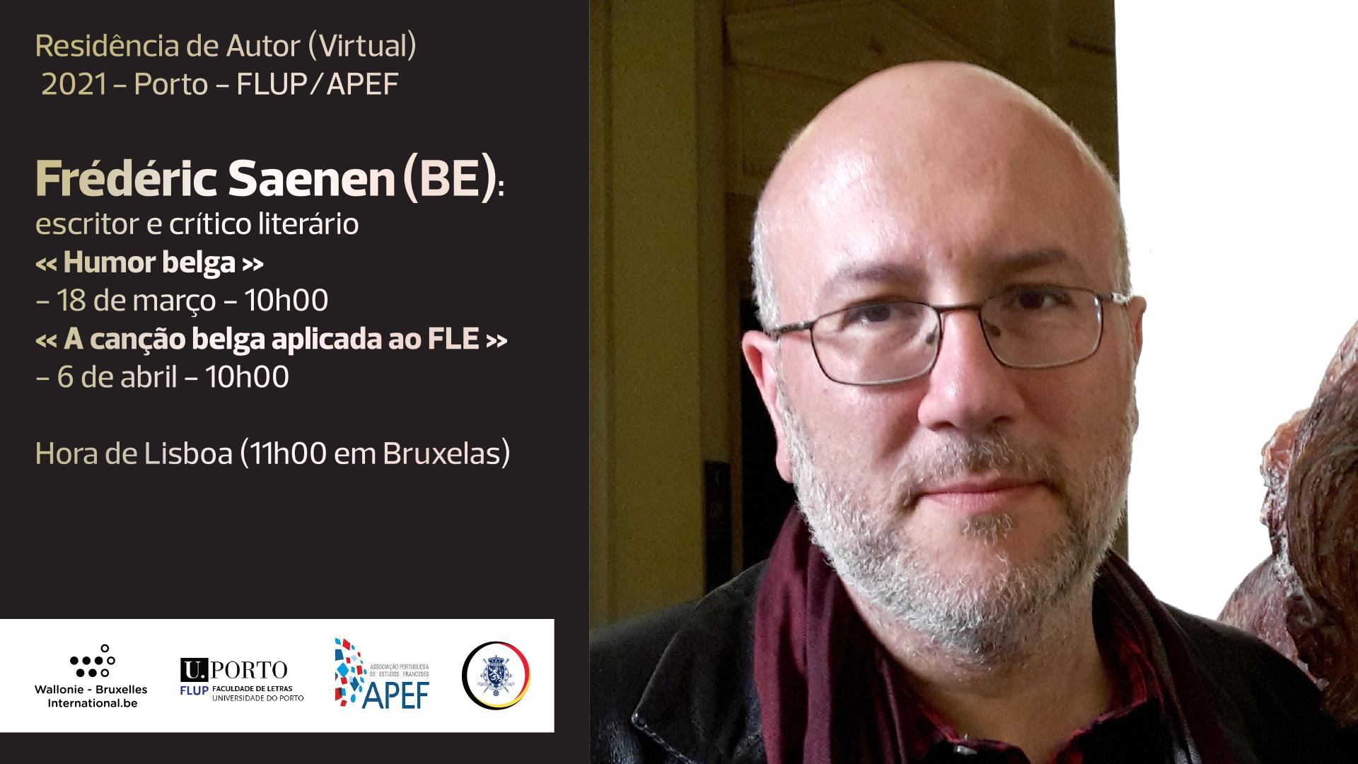 Résidence (virtuelle) d'Auteur avec Frédéric Saenen