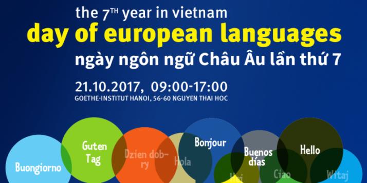 """Affiche """"Journée des Langues européennes à Hanoi"""" - cliquer pour agrandir"""