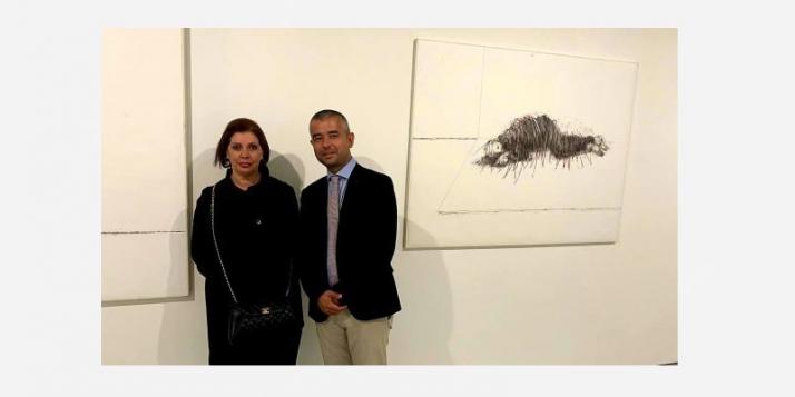 Amina Rezki expose à la Biennale d'Art de Rabat - cliquer pour agrandir
