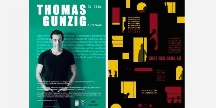 """Rencontres avec l'écrivain belge Thomas Gunzig et spectacle """"Chez ces gens-là"""" à Cracovie - cliquer pour agrandir"""