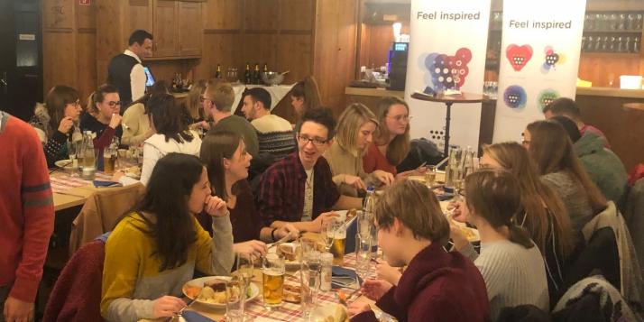 Une délégation de l'UMons reçue à Munich - Buffet bavarois - cliquer pour agrandir