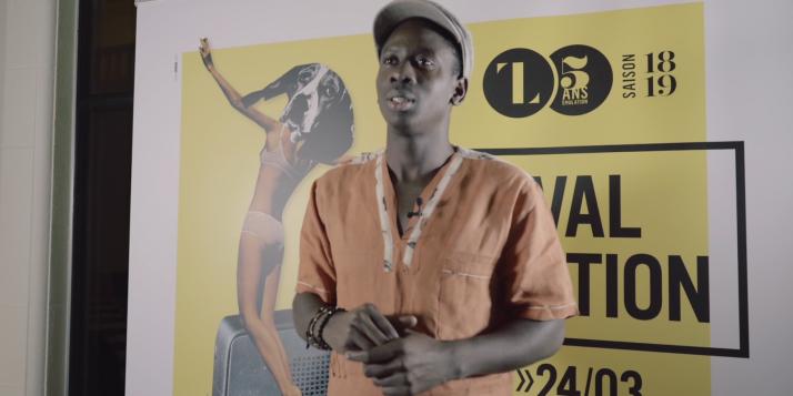 Jeunes artistes haïtiens en stage à Liège - Junior Neptune - cliquer pour agrandir