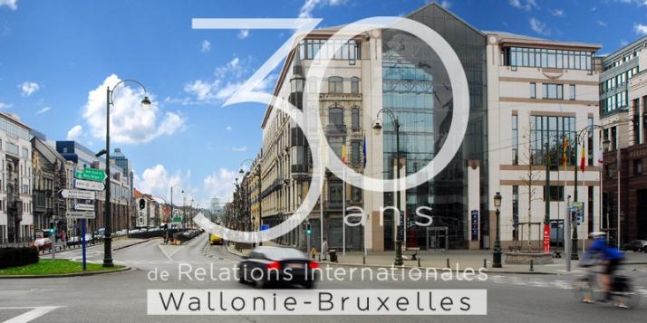 Le bâtiment de WBI, installé Place Sainctelette, à Bruxelles - cliquer pour agrandir