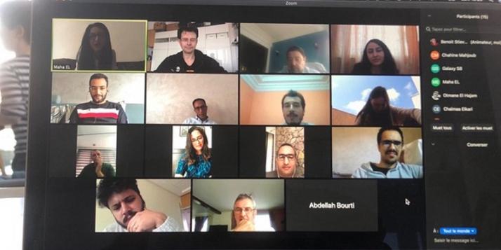 Réunion de planification du programme AJI avec toute l'équipe APEFE Maroc - cliquer pour agrandir