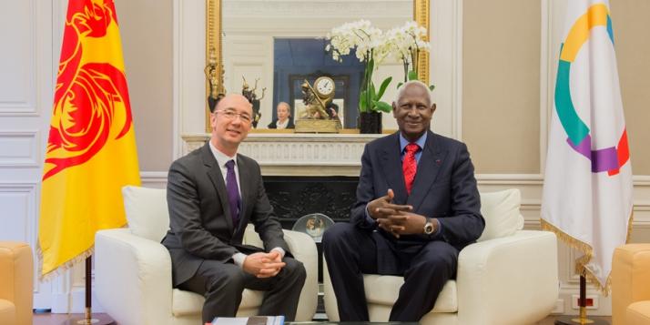 Rudy Demotte et Abdou Diouf - cliquer pour agrandir