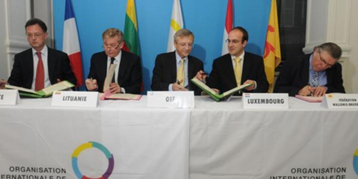 Réunion de l'Organisation internationale de la Francophonie avec les représentants de la Lituanie - cliquer pour agrandir