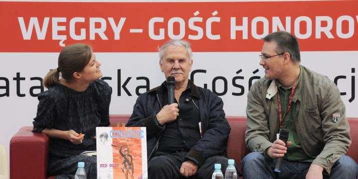 Photo d'Hermann prise lors de la Foire du Livre de Varsovie 2016  - cliquer pour agrandir