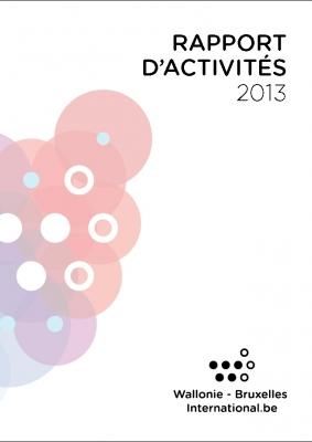 Couverture du Rapport d'activités 2013 de WBI