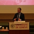 """Intervention du Ministre-Président de la Wallonie, Paul Magnette, lors de la table ronde """"Commerce international et démocratie"""" à l'Université de Genève - cliquer pour agrandir"""