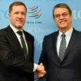 Paul Magnette, Ministre-Président de la Wallonie, avec Roberto Azevedo, Directeur général de l'Organisation mondiale du Commerce - cliquer pour agrandir