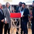 Remise du Prix des Cinq continents à Yamen Manai en présence du Ministre-Président R. Demotte, de la Ministre de la Culture française F. Nyssen et de l'Administrateur de l'OIF A. Ouane - cliquer pour agrandir