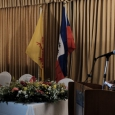 Mr Patrick Van Gheel, Ambassadeur de Belgique à Haïti, Mme Pascale Delcomminette, Administratrice générale de WBI, et Mr Antonio Rodrigue, Ministre des Affaires étrangères et des Cultes de la République d'Haïti - cliquer pour agrandir