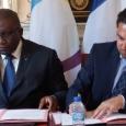 S.E. M.Bassirou Sene, Président du GAFF, et M. Arnaud Robinet, Maire de la Ville de Reims - cliquer pour agrandir