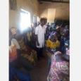 Séance d'IEC (Information, Education, Communication) et sensibilisation sur le calendrier vaccinal et son importance, dans la commune de DOGBO, au sud-ouest du Bénin, par 2 étudiants infirmiers de 3ème année - cliquer pour agrandir