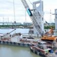 La Muong Chuoi Barrière en construction - cliquer pour agrandir
