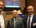 Le professeur Paul Aron (premier à gauche) lors de la conférence à l'Université Jagellonne de Cracovie