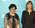 Madame Arancha González, Directrice exécutive du Centre du Commerce International  (ITC) et Madame Pascale Delcomminette, Administratrice générale de WBI et de l'AWEX