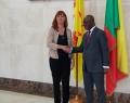 Pascale Delcomminette, Administratrice générale de WBI, et Aurélien A .Agbenonci, Ministre des Affaires étrangères et de la coopération de la République du Bénin