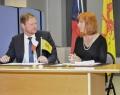 Jakub Dürr, vice-Ministre tchèque des Affaires étrangères et Pascale Delcomminette, Administratrice générale de Wallonie-Bruxelles International