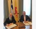 Le Ministre-Président de la Fédération Wallonie-Bruxelles, Rudy Demotte et le Premier Ministre du Québec, Philippe Couillard