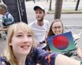 Elodie Meunier, ALAC au Brésil, en compagnie du duo RIVE lors des Fêtes de la Francophonie 2019