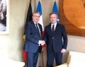 Pierre-Yves Jeholet, Ministre-Président de la Fédération Wallonie-Bruxelles, et Jean-Baptiste Lemoyne, Secrétaire d'État auprès du Ministre de l'Europe et des Affaires étrangères