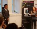 Damien Silès, Directeur général du Quartier de l'innovation de Montréal et Yaël Haumont, Business Development Manager Amérique du Nord (en remplacement de Pascale Delcomminette, Administratrice de l'AWEX)